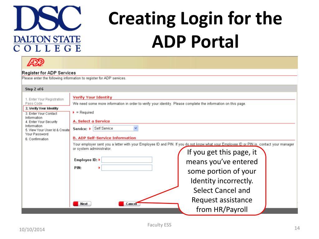 PPT - ADP Portal for Employee Self Service April – June 2009