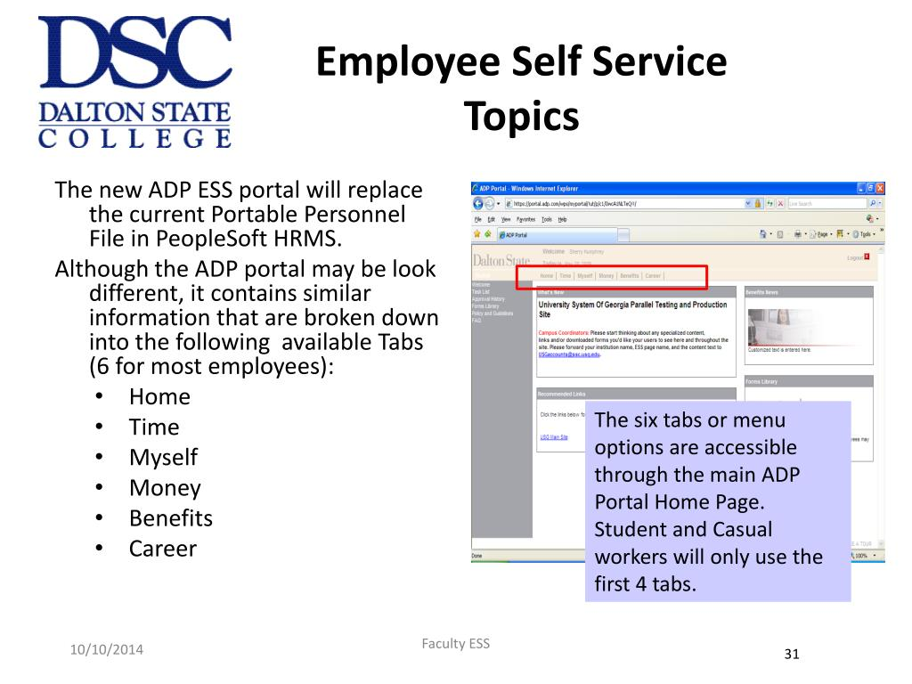 PPT - ADP Portal for Employee Self Service April – June 2009