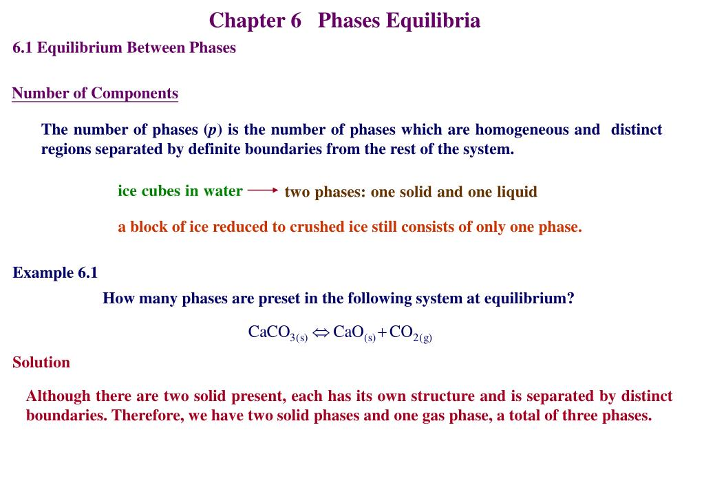 Ppt - Chapter 6 Phases Equilibria Powerpoint Presentation  Free Download