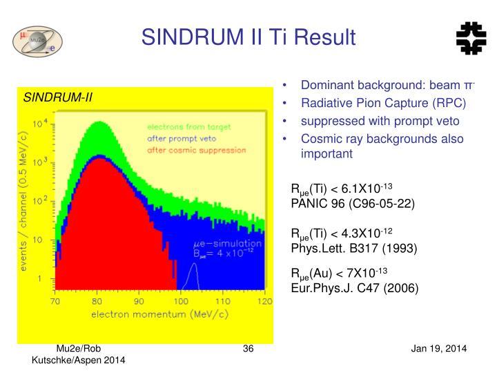 SINDRUM II Ti Result