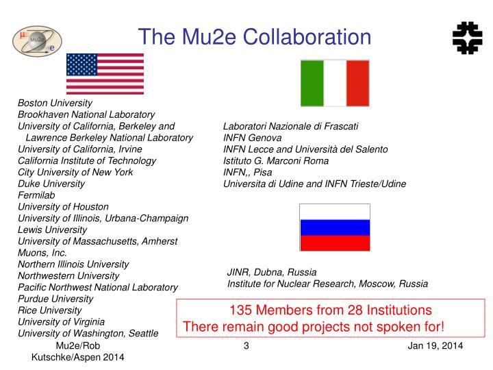 The mu2e collaboration