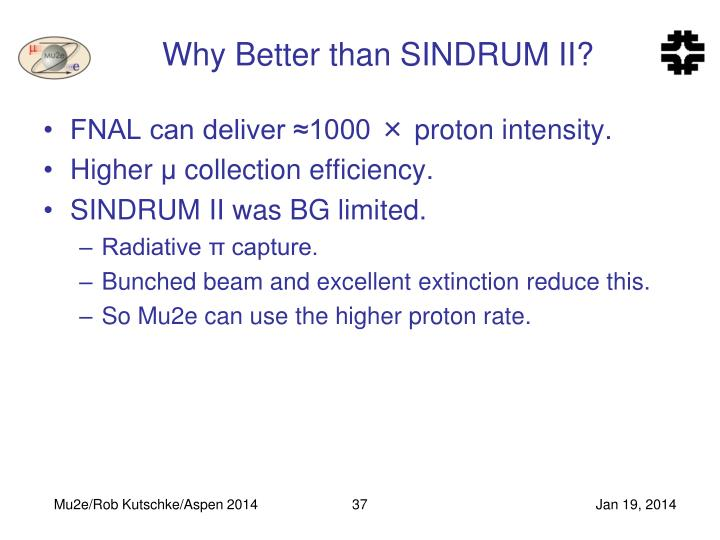 Why Better than SINDRUM II?