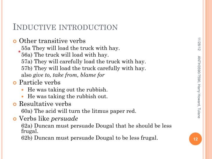 Inductive introduction