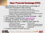 open financial exchange ofx