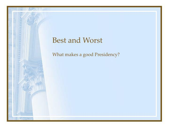best and worst n.