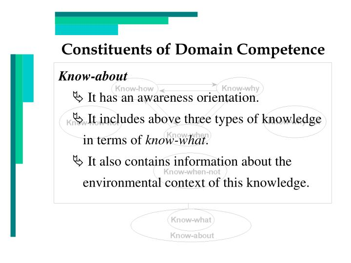 Constituents of Domain Competence