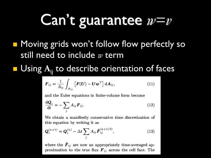 Can't guarantee