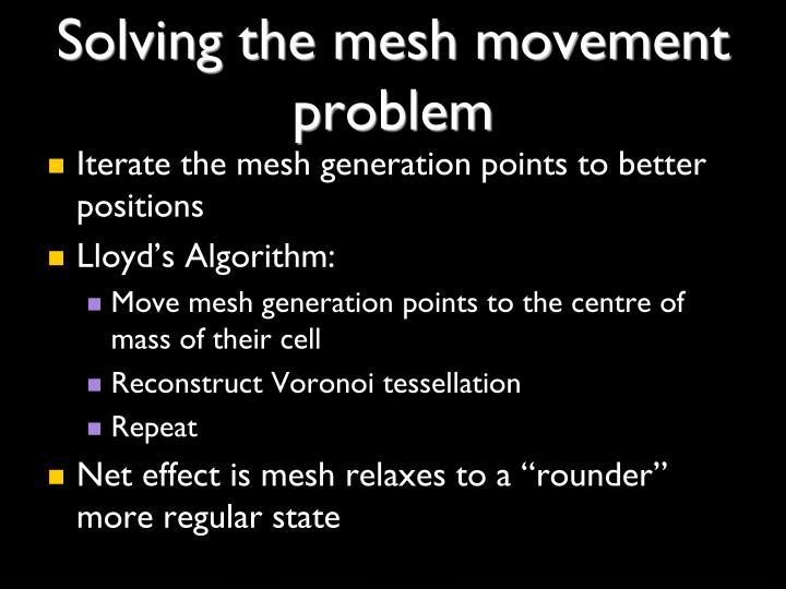 Solving the mesh movement problem