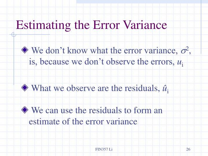 Estimating the Error Variance