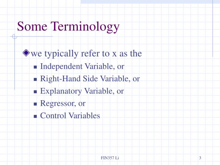 Some terminology1