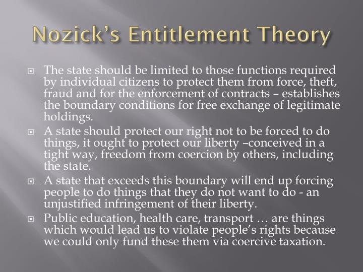 nozicks theories of justice analysis What is robert nozick's argument for a minimal state when others do not abide by them and seek justice argument based on a theory of moral side.