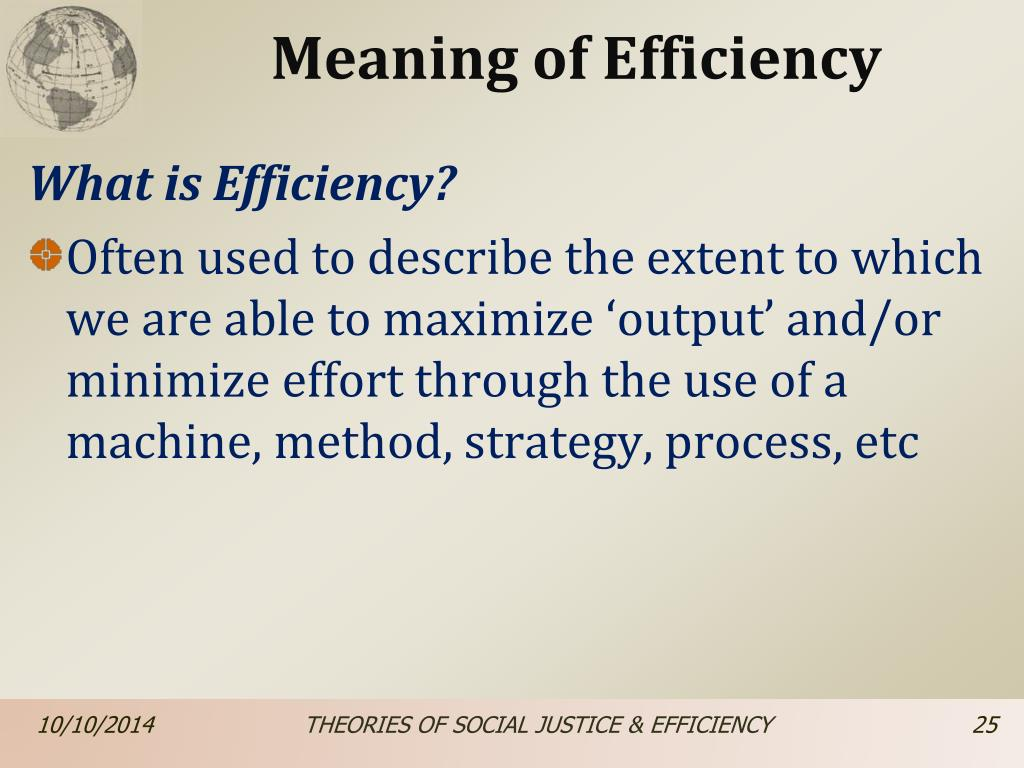 What Is Efficiency >> Ppt Unit 7 Theories Of Social Justice Efficiency