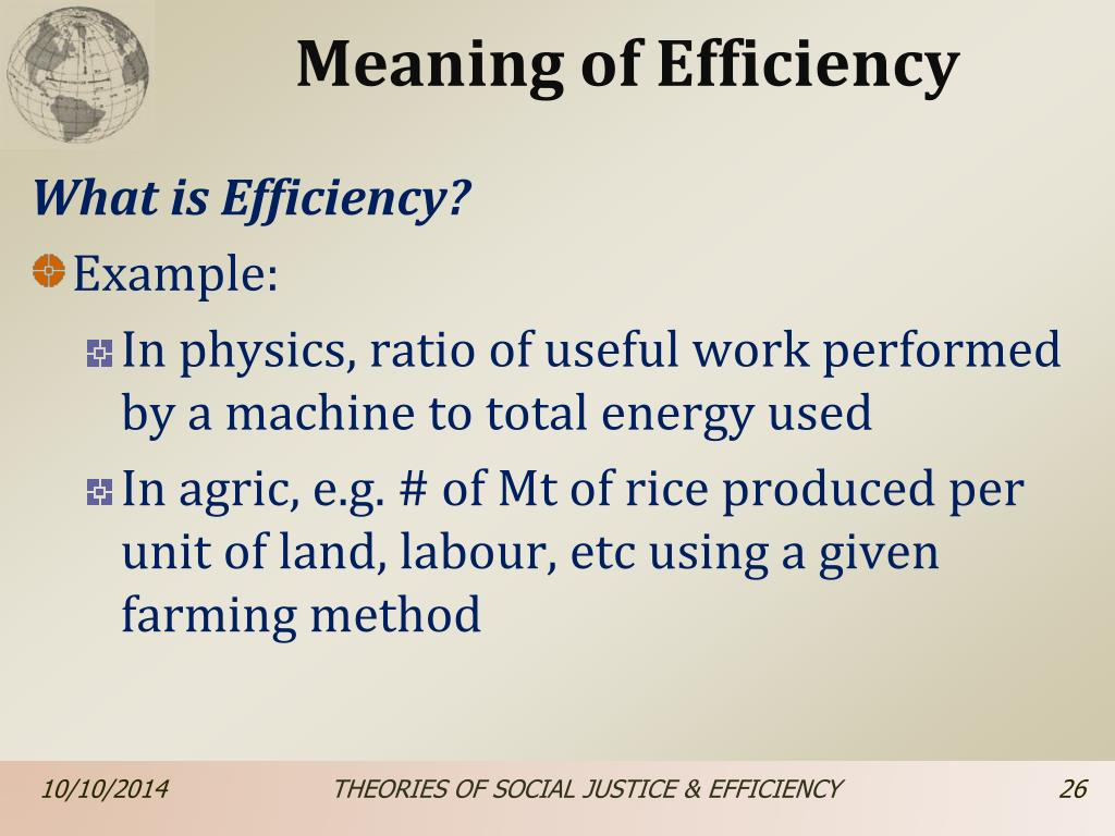 What Is Efficiency >> Ppt Unit 7 Theories Of Social Justice Efficiency Powerpoint