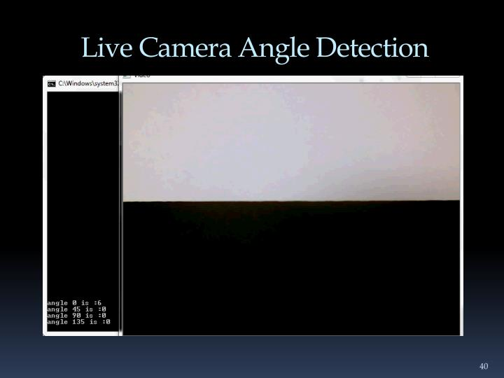 Live Camera Angle Detection