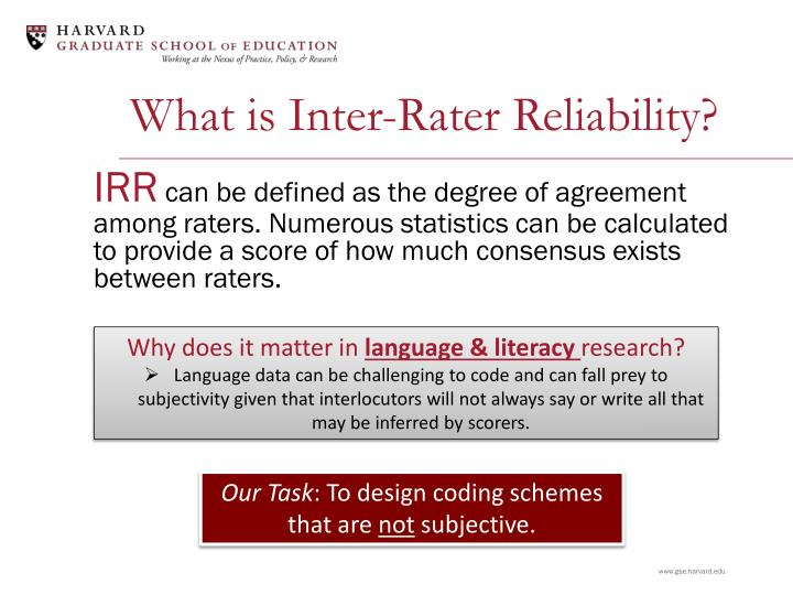 Ppt Inter Rater Reliability Powerpoint Presentation Id5375042