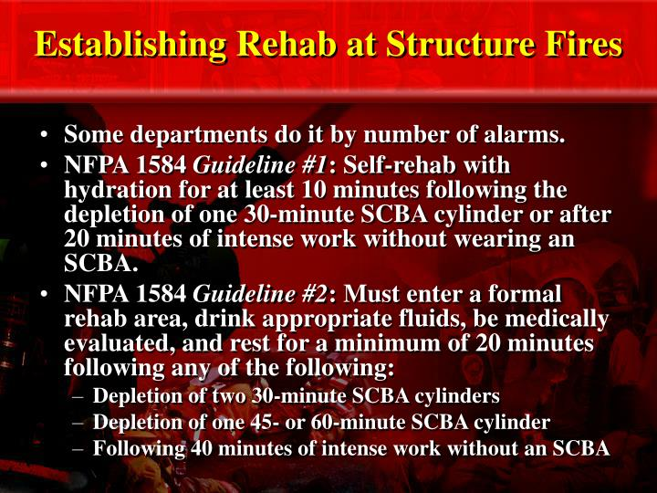 Establishing Rehab at Structure Fires