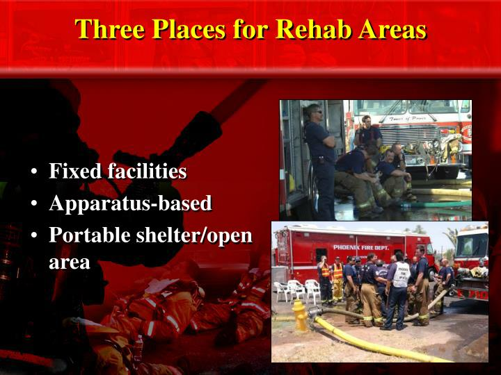 Three Places for Rehab Areas