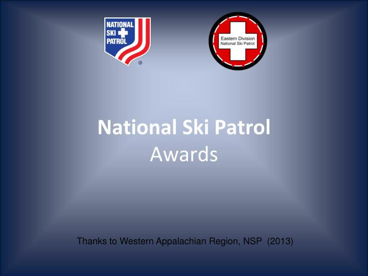 national ski patrol awards n.