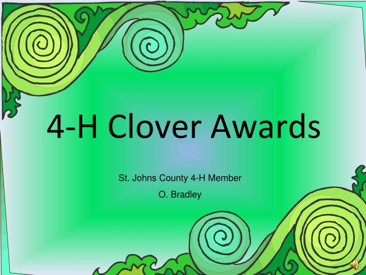 4 h clover awards n.