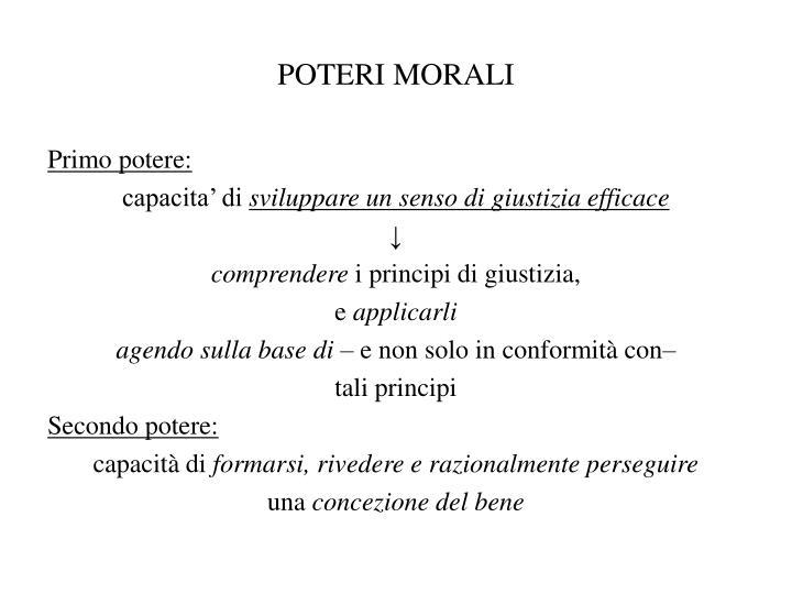 POTERI MORALI