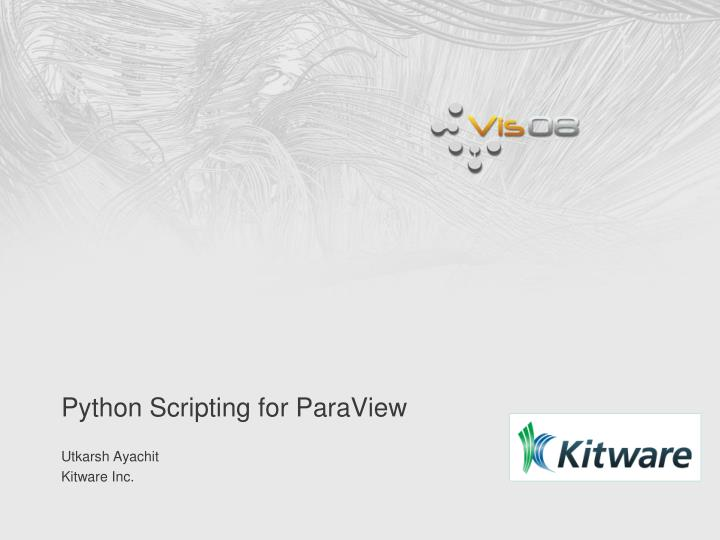 python scripting for paraview n.