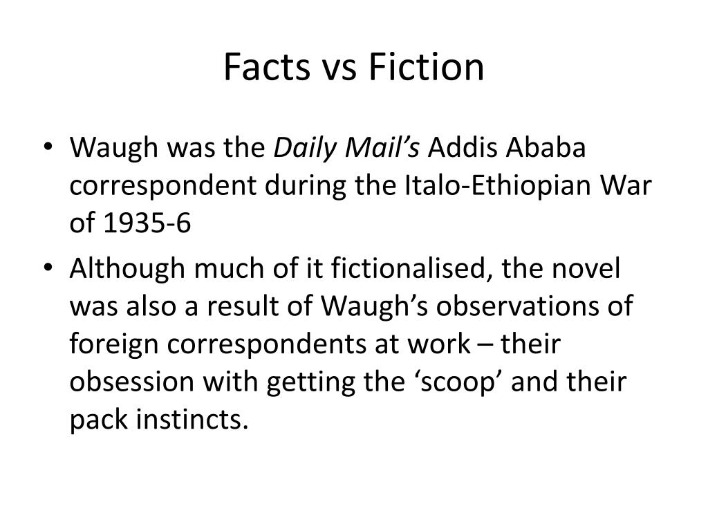 PPT - Evelyn Waugh's Scoop PowerPoint Presentation - ID:5375591