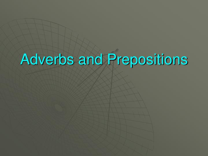 adverbs and prepositions n.