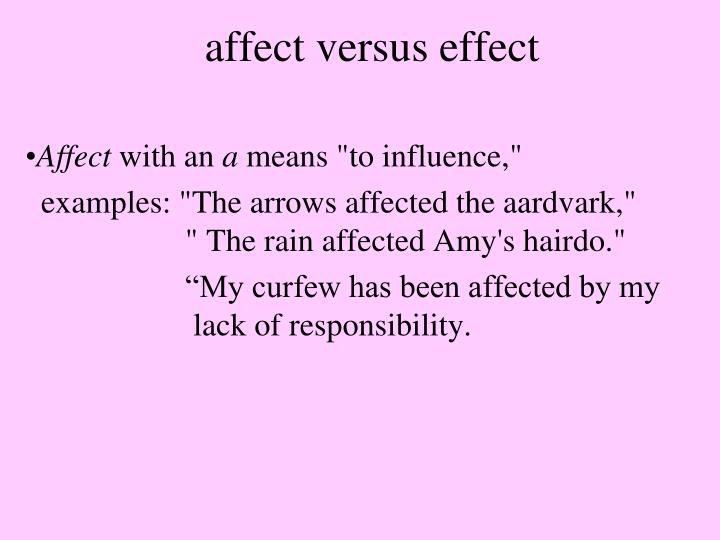 Ppt Affect Versus Effect Powerpoint Presentation Id5375731