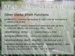 xpath addresses for xml20