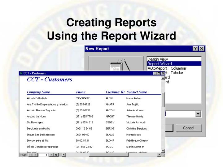 Creating Reports