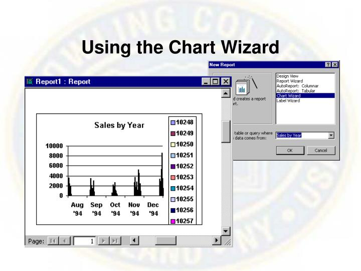 Using the Chart Wizard