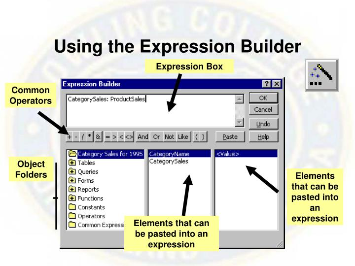 Using the Expression Builder