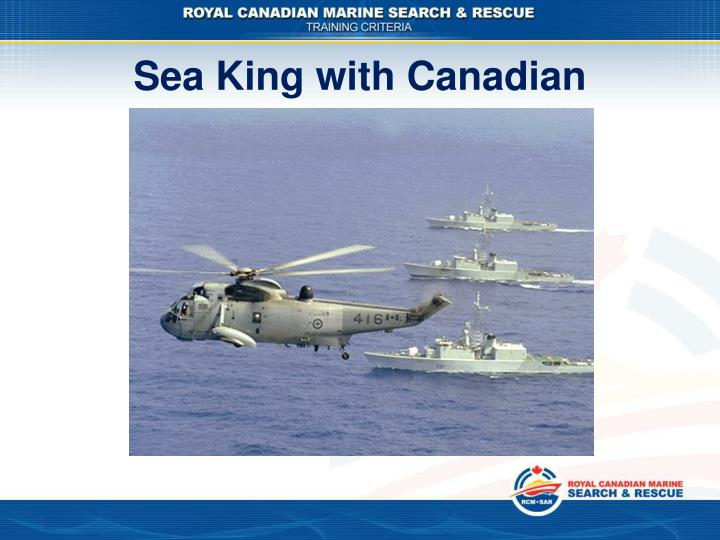 Sea King with Canadian Frigates