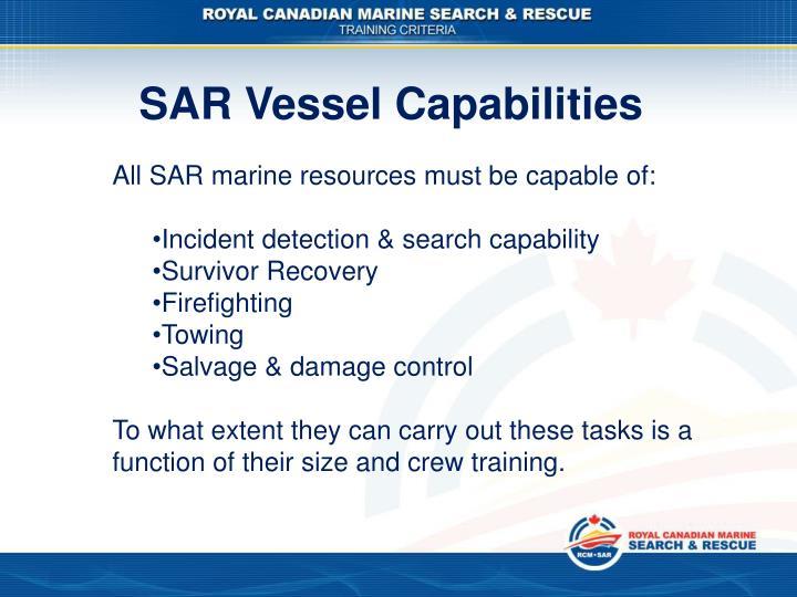 SAR Vessel Capabilities