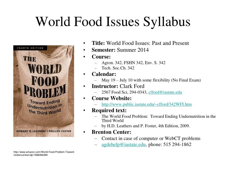 world food issues syllabus n.
