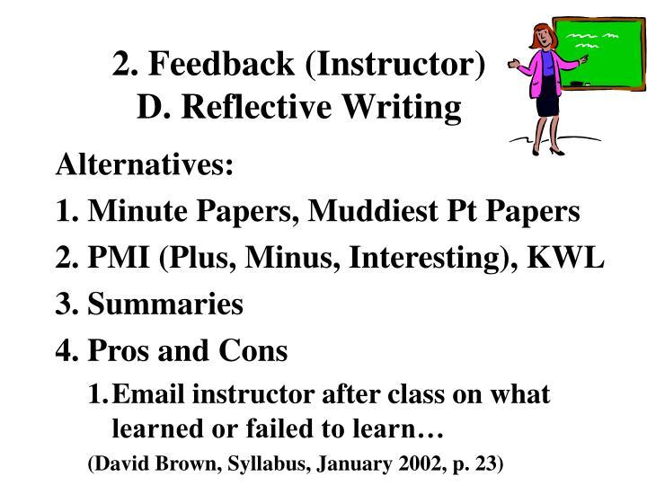 2. Feedback (Instructor)