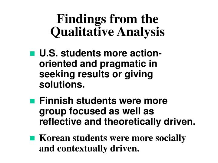 Findings from the Qualitative Analysis