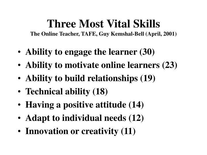 Three Most Vital Skills