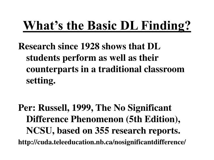 What's the Basic DL Finding?