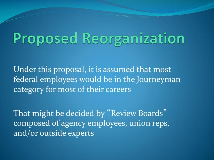Proposed Reorganization