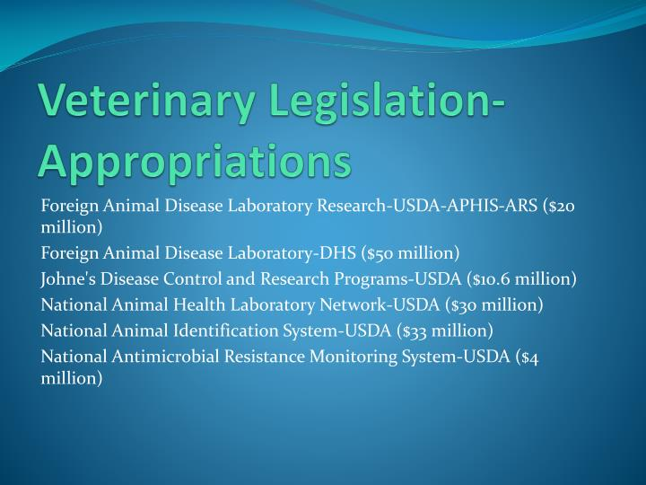 Veterinary Legislation-