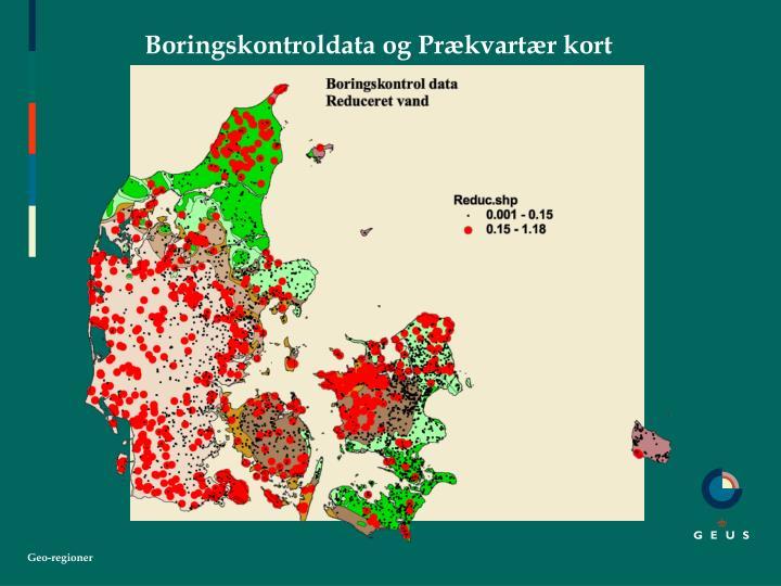 Boringskontroldata og Prækvartær kort