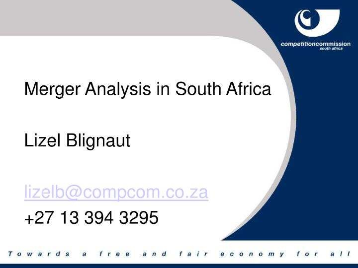 Merger Analysis in South Africa
