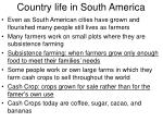 country life in south america