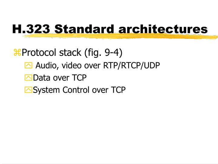H.323 Standard architectures