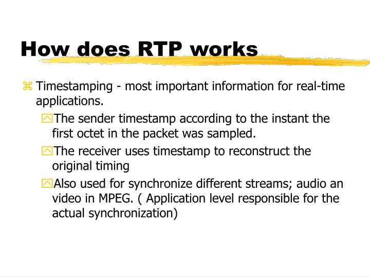How does RTP works