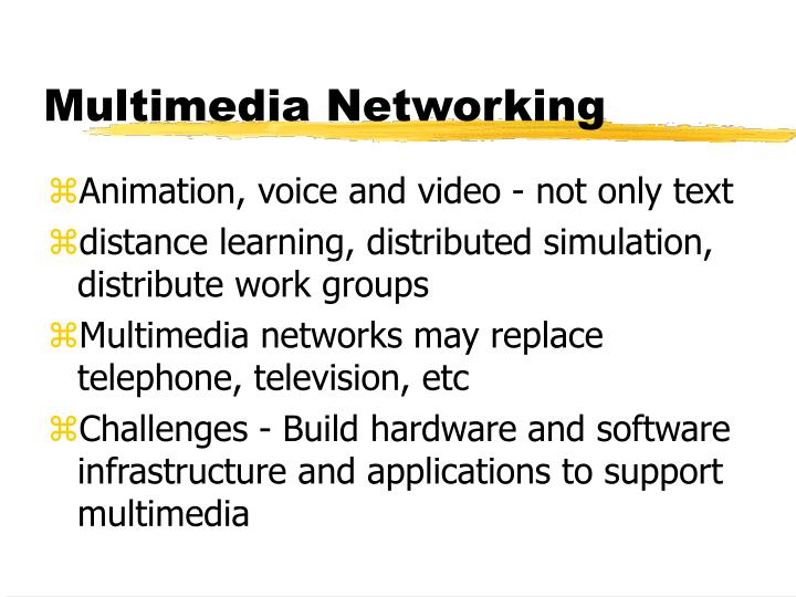 Multimedia networking