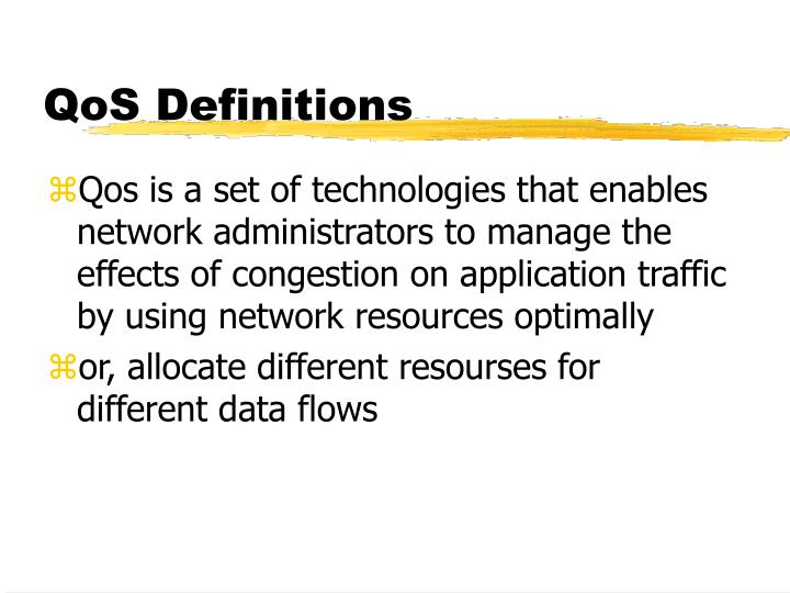 QoS Definitions