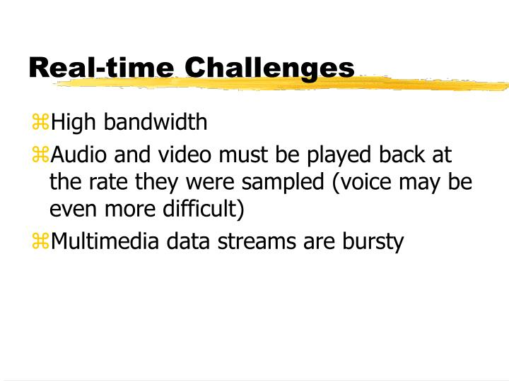 Real-time Challenges