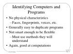 identifying computers and programs